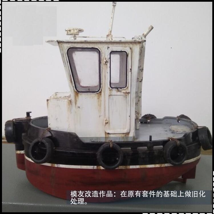 NIDALE نموذج مقياس 1/18 دفع عارض قوارب كيت محاكاة الكهربائية نموذج باخرة الإنجليزية كتيبات-في مجموعات البناء النموذجي من الألعاب والهوايات على  مجموعة 3