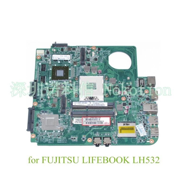 DA0FJ8MB6F0 For Fujitsu lifebook LH532 Laptop motherboard hm76 HD4000+nvidia GeForce GT620M warranty 60 days