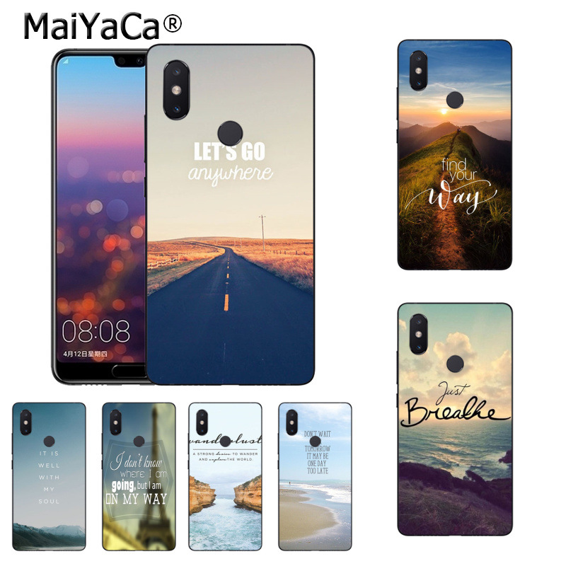 MaiYaCa Beautiful Scenary Travel Breathe On The Way phone case for Xiaomi Mi 6 Note2 Note3 8 8SE MIX2 Redmi 5 5Plus Note5 Note4