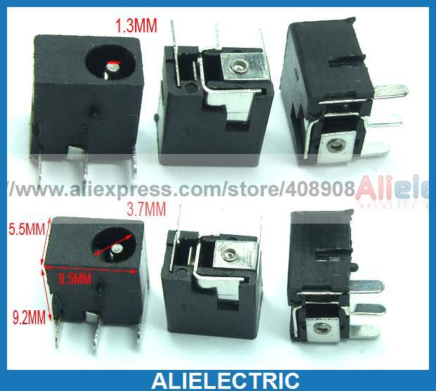 500 pièces 3.5mm x 1.3mm DC prise Jack femelle chargeur prise d'alimentation PCB soudure