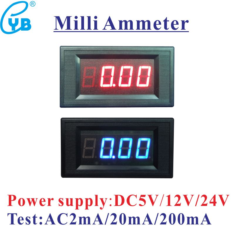Tools Measurement & Analysis Instruments The Best Ac Ammeter 50a Include Transformer 50a Ac Current Meter Led Display Red Blue With A Cover Ac Ampere Panel Meter Ac Amperemetre High Quality Materials