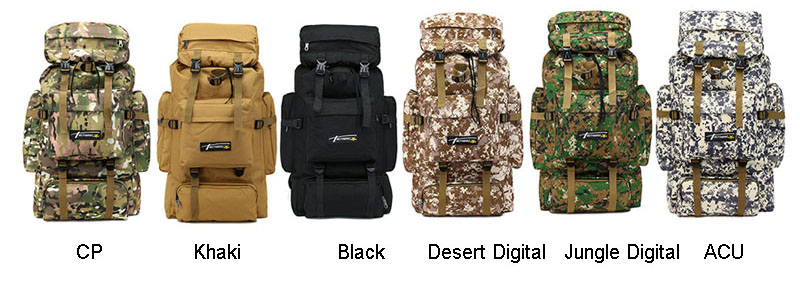 70L Tactical Bag Military Backpack Mountaineering Men Travel Outdoor Sport Bags Molle Backpacks Hunting Camping Rucksack XA583WA