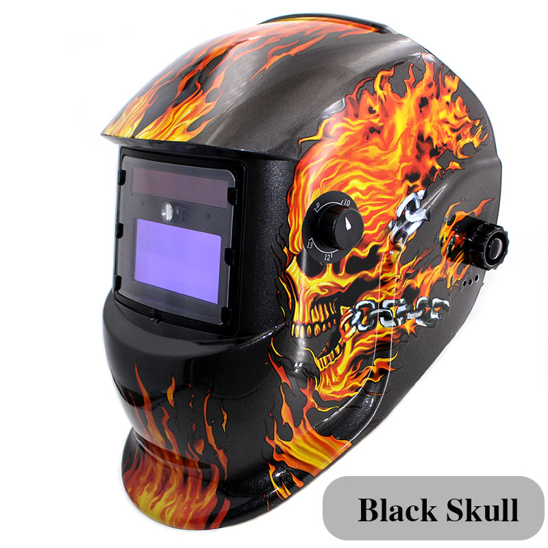 LED Light Li Battery /Solar Automatic Darkening Welding Helmet/Mask Eyes Protection Welder Cap Welding Lens for Welding Machine riland automatic welder mask electric welding helmet mig arc mma electric welding cap x701b red color