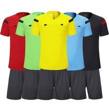 Shinestone футбол Джерси Профессиональный для мужчин футбол рефери Униформа тайский рефери Джерси шорты наборы футбол рефери спортивные костюмы
