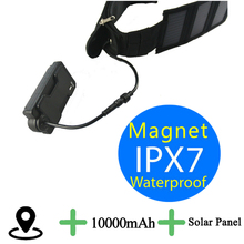 T5010S Panel Solar 2G o 3G Elegir GPS Tracker Para Grandes Mascotas Animal Perro, No Parar de Rastreo de Potencia a prueba de agua 10000 mAh Batería Grande!