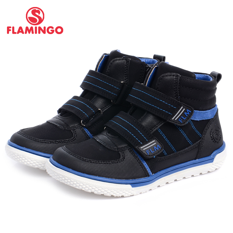FLAMINGO 2017 new collection autumn/winter fashion leathern kids boots high quality anti-slip kids shoes for boys W6XY131