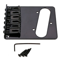 SEWS Electric Guitar Bridge Assembly Tele Bridge 6 String Saddle For Telecaster Replacement Black