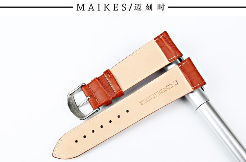 cinto macio couro genuíno pulseira de relógio