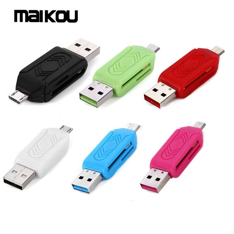 Maikou 5 шт. TF/SD Card Reader с USB 2,0/Micro USB Интерфейс