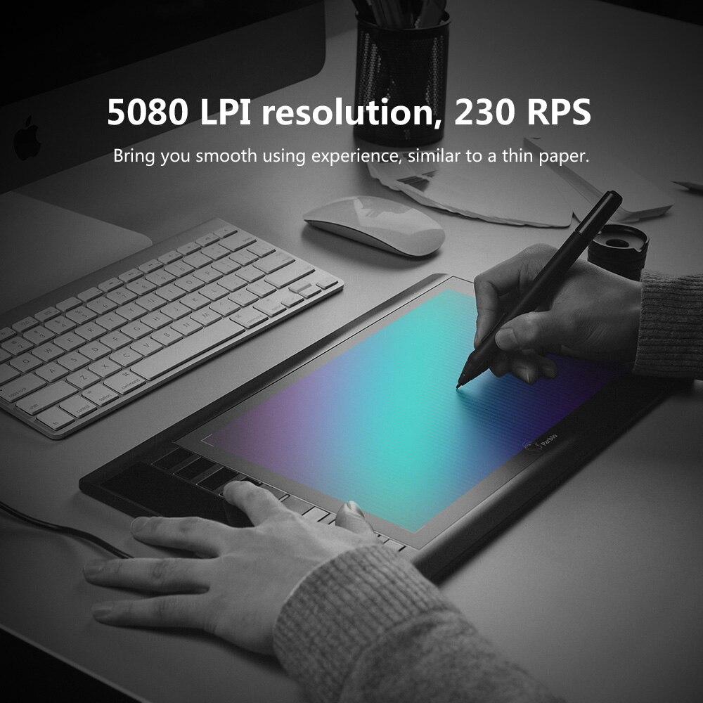 Parblo A610 tablette numérique graphique dessin tablette Pad avec stylo 2048 niveau stylo numérique + gant Anti-salissure comme cadeau - 5