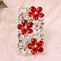 Strass gemas de flor de cristal de diamante casos de telefone capa para o iphone 5s 5 coque se 6 s 6 7 plus para samsung s 5 6 7 edge nota caso