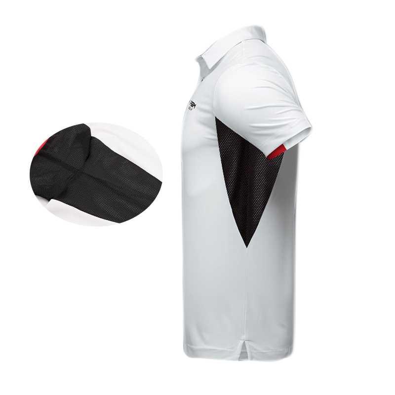 2019 Мужская тенниска с коротким рукавом дышащая одежда для гольфа мужская Спортивная одежда для гольфа отложной воротник Спортивная одежда быстросохнущая