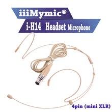 Iiimymic i-H14! Про конденсаторный гарнитура с микрофоном для Shure Беспроводной body-обновления-передатчик мини 4pin XLR TA4F разъем