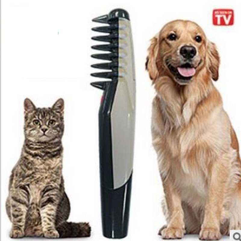 LTZFTL tool Store Knot Electric Pet Dog Grooming Comb scissor Black Grey for dogs and cats Scissors Professional Pet Hair Trimmer