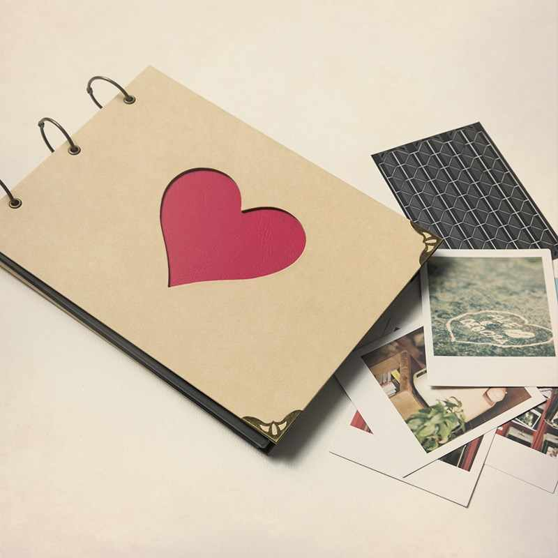 Scrapbook for boyfriend / girlfriend / fiance / engagement gift / proposal gift / love heart memory book / romantic photo album