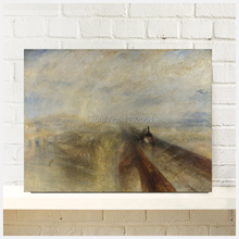 canvas painting  landscape Joseph Mallord William Turner  Rain Steam and Speed The Great Western Railway