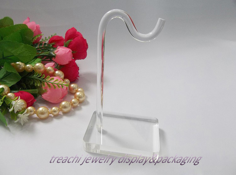 Super White Clear Acrylic Jewelry Display Props Bracelet Holder Chain Rack Ankle Stand Shelf Holder Hook Bracelets & Bangles