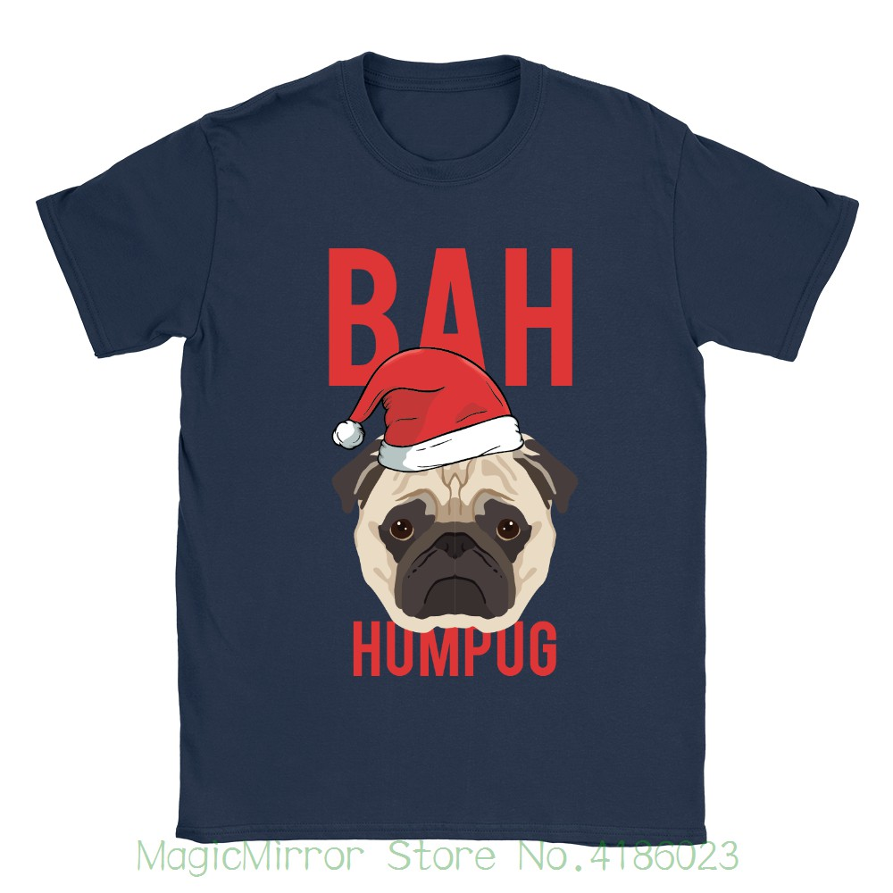 Бах Humpug Футболка мужская смешной анекдот Мопс Рождество Скрудж собака подарок настоящее печати короткий рукав Футболка