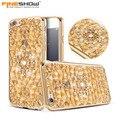 Fineshow para iphone 6 6 s de lujo bling del diamante de la flor chapado caso del patrón del teléfono para iphone 6 plus 6 splus cubierta suave tpu HU932