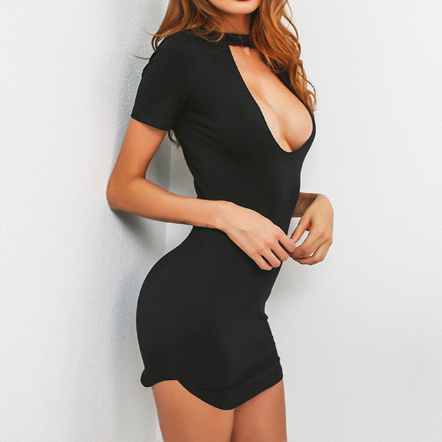 Low-Cut Mini Dress