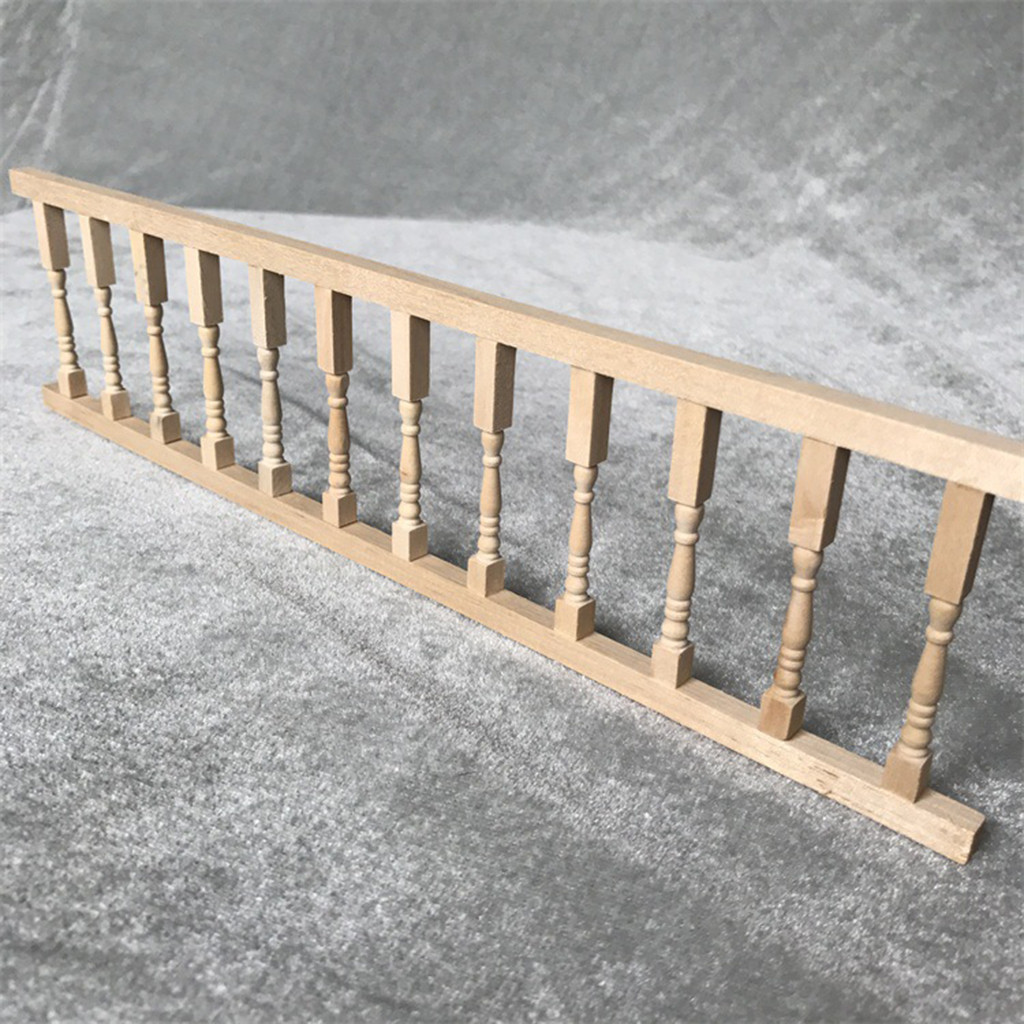 1/12 Dollhouse Miniature Accessories Mini Wooden Miniature Fence Handrail 1:12 Mini Dollhouse Fence Cute House Mini  Fence A625