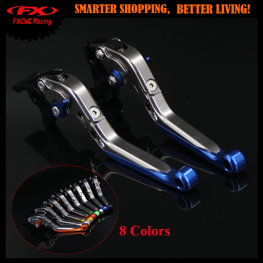 Blue+Titanium CNC Motorcycle Adjustable(Folding&Extendable)Brake Clutch Levers For Yamaha  DT 80 (53V) 1985-1991 1988 1989 1990