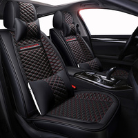 High quality PU Leather car seat covers fit Toyota Corolla Camry Rav4 Auris Prius Yalis Avensis SUV auto accessories car sticks