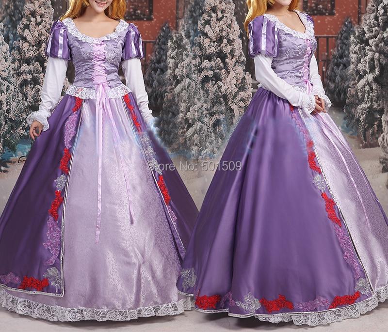 Tienda Online Adultos mujeres de lujo bordado púrpura Rapunzel ...
