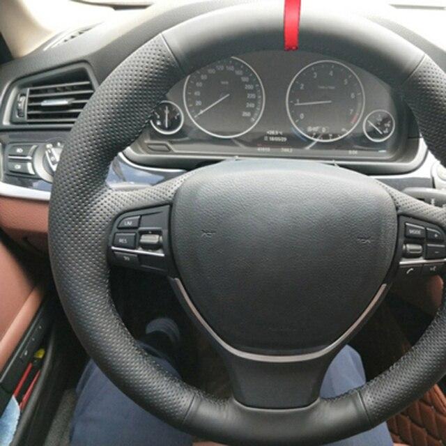 Main couture voiture Volant couverture Volant pour BMW F10 2014 520i 528i 2013 2014 730Li 740Li 750Li Funda Volante voiture accessoires