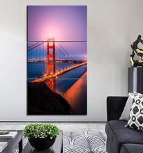 One Set 3 Panel San Francisco View Bridge Modular Landscape Picture Modern Living Room Or Office Wall Decorative Artwork Poster