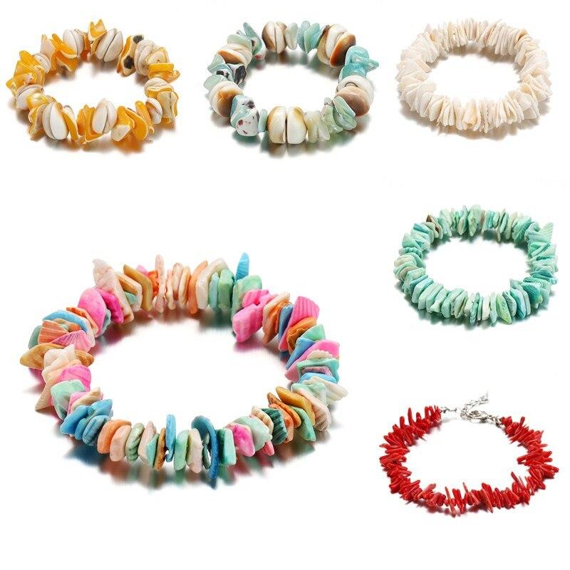 Rainbow Bracelet For Women Multicolor Shell Bracelet Cute Anniversary Bead Beach Accessories Adjustable 2019liujun Brand Jewelry