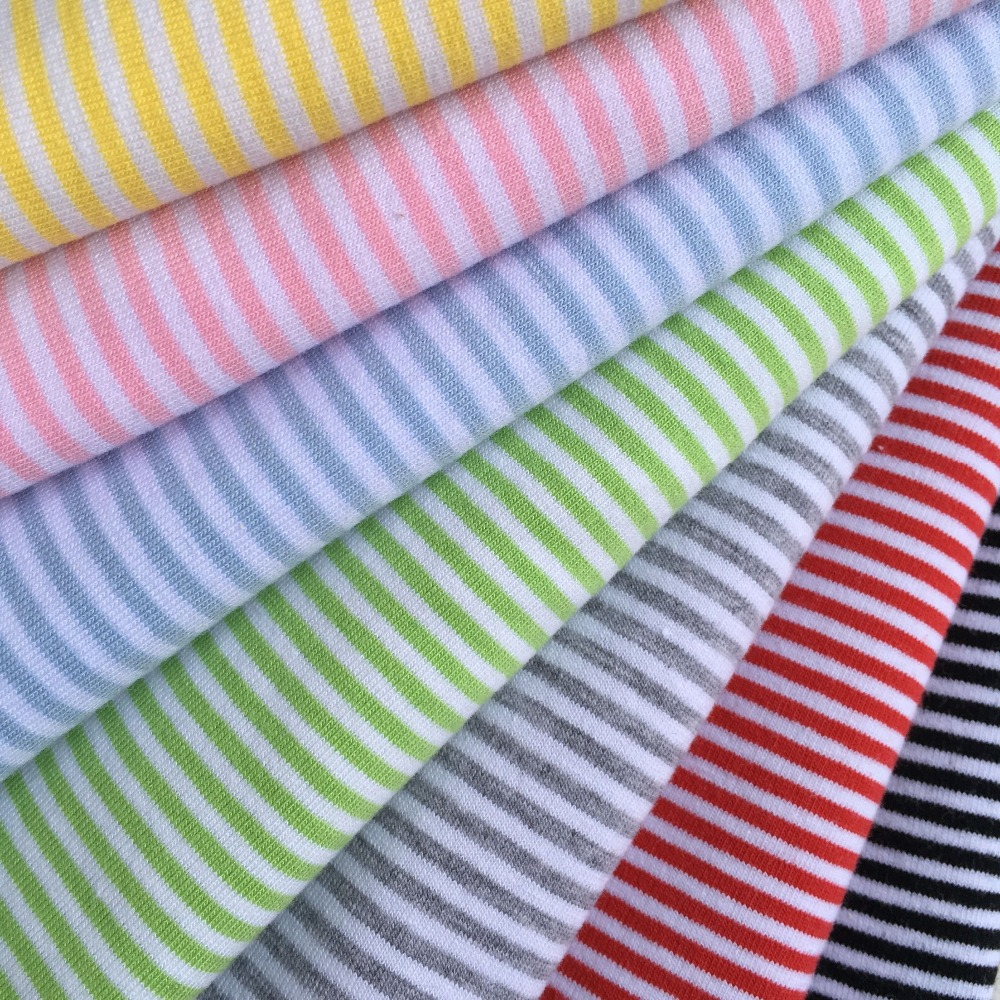 4pcs Diy Handmade Doll Clothes Material 2mm Stripe Cotton Lycra Knit Fabric For Sewing Blyth Clothes T-shirt Socks 50*40cm