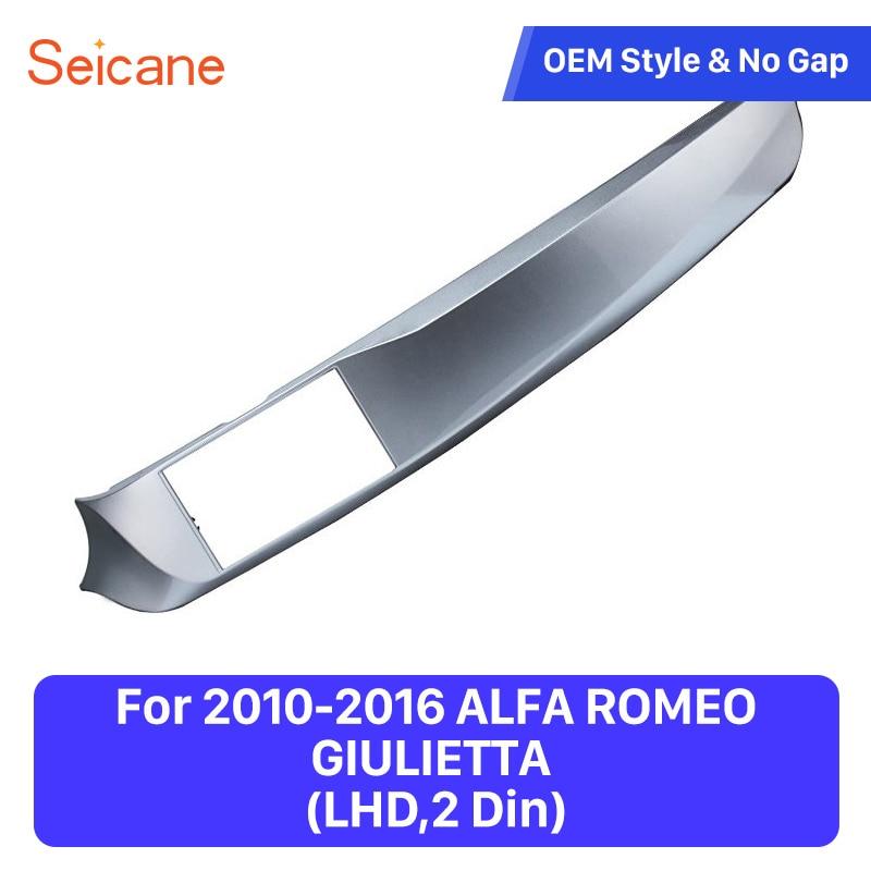 Seicane Guida A Sinistra Doppio Din Car Stereo Cornice Fascia per il 2010-2016 ALFA ROMEO GIULIETTA Dash Montaggio A Pannello kit