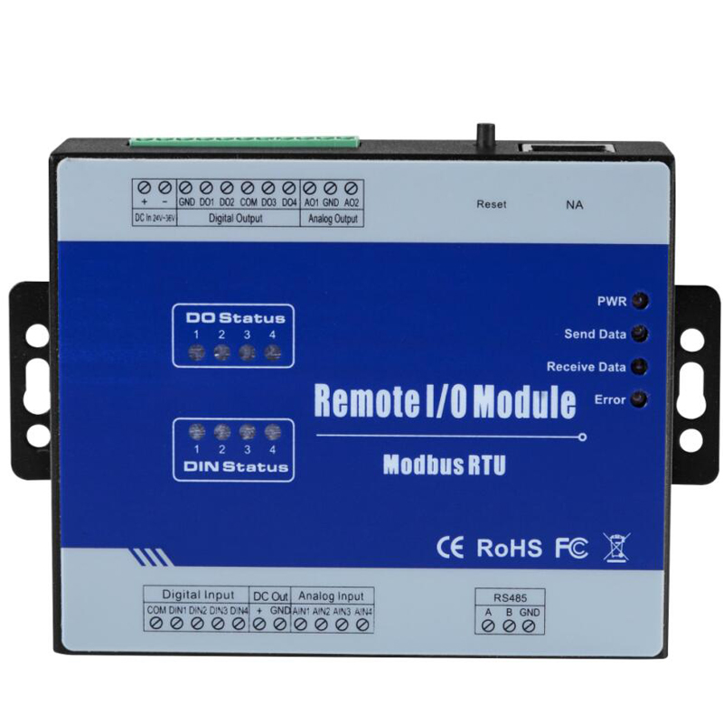 Modbus Remote IO Module Data Acquisition Module(4DI+4DO+4AI+2AO) inbuilt Watchdog 4 Sink output M120