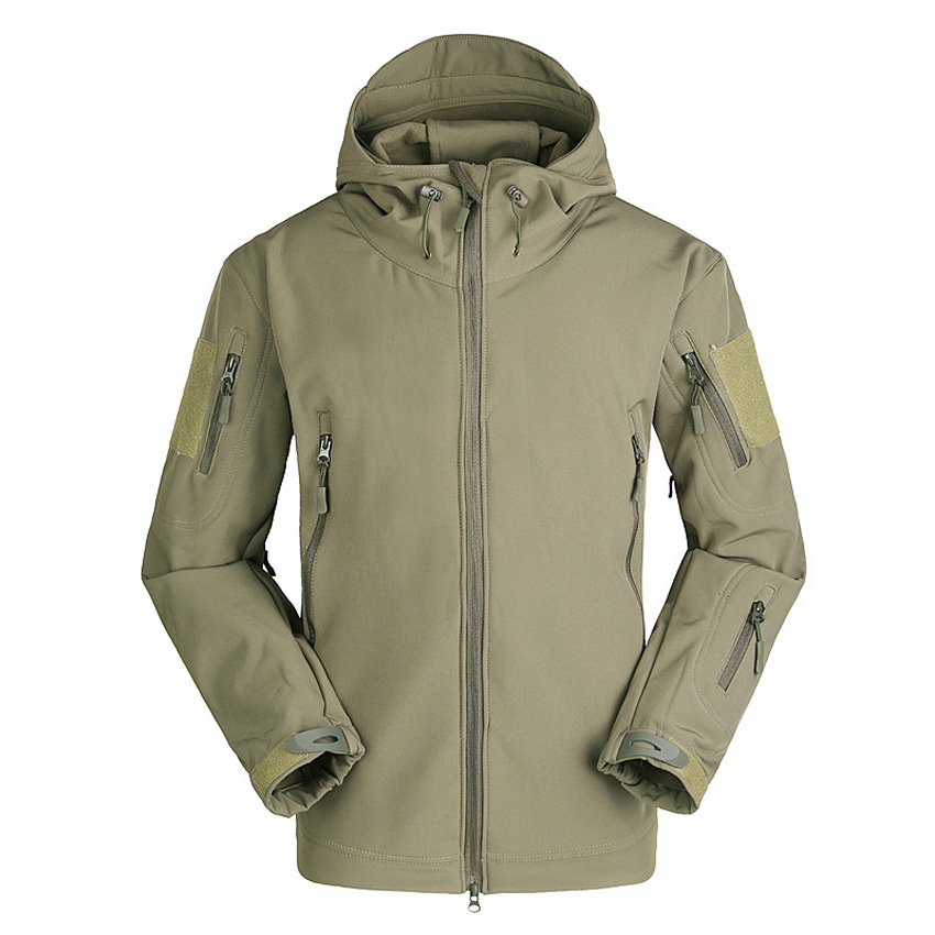 Men s Thermal Softshell Fleece Tactical Jackets Outdoor Sports Coat Hiking Climbing Hunting Trekking Military Windbreakers