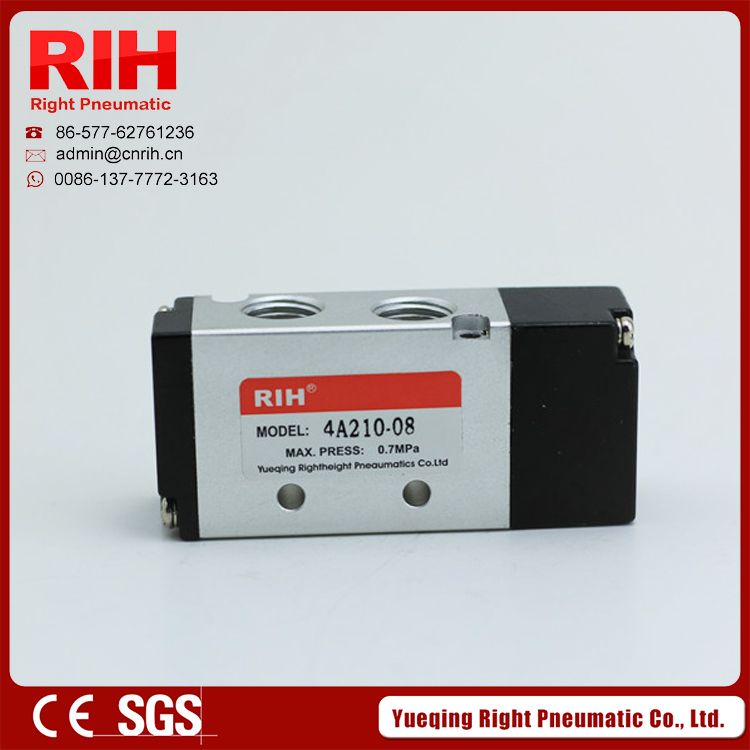 RIH  4A Series Solenoid Valve  2/5way4A420-15 pneumatic Air control valve /gas valve 5 way pilot solenoid valve sy3220 3d 01