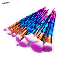 12Pcs Unicorn Makeup Brush Set Foundation Eyeshadow Powder Cosmetic Brushes Unicorn Rainbow Contour Blending Make Up
