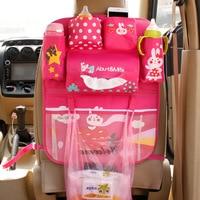 Phim hoạt hình Xe Seat Lại Organizer Organizador Đa Pocket Lưu Trữ Diaper Bags Treo Pocket Cho Bé Mama Trẻ Em Trẻ Em