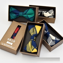 Fashion Mens Adjustable Cotton Bowtie Boys Childrens Plaid Striped Solid butterfly Bow Tie Holiday Prom Party Gift Accessories