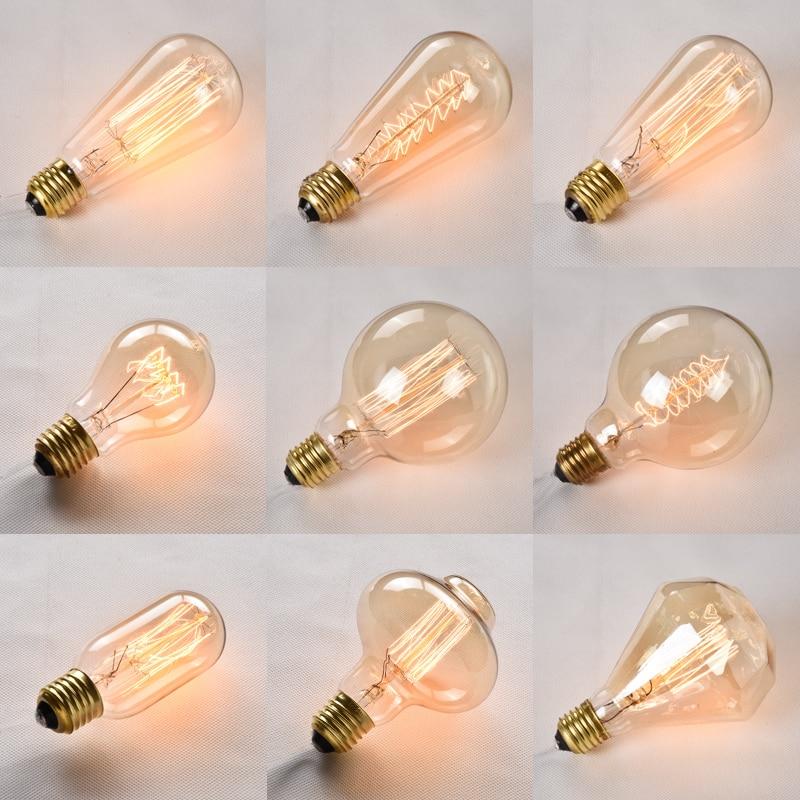 1 Pièces Vintage Lampe E27/e14 Edison Ampoule 220 V Lampe à Incandescence Pour La Maison/salon/chambre/lustre Décor Industriel Rétro Lampe
