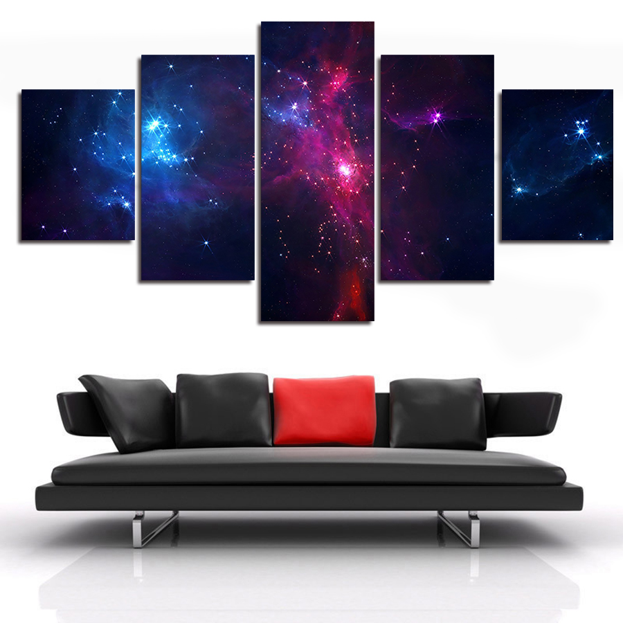 Planets Wall Art Us 33 75 Canvas Painting Wall Art Picture 5 Piece Scenery Planet Cosmic Language Modern Home Decoration Modular Picture Unframed In Painting