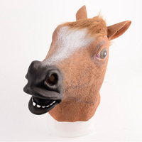 On Sale Novelty Creepy Horse Halloween Head Latex Rubber Costume Theater Prop Party Mask