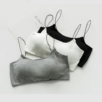 SP CITY Simple Deisgn Solid Cotton Soft Sexy Women Bra Tops Sexy Wire Free Seamless