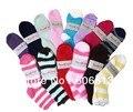 Nova Moda Inverno Suave Cozy Distorcido Lady Sock Tamanho 9-11, 12 pares/lote, frete Grátis