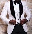 El último Diseño Para Hombre Del Partido de Cena Blazer Trajes de Baile Trajes de Novio Esmoquin Padrinos de Boda (Jacket + Pants + Vest + Tie) K: 1259