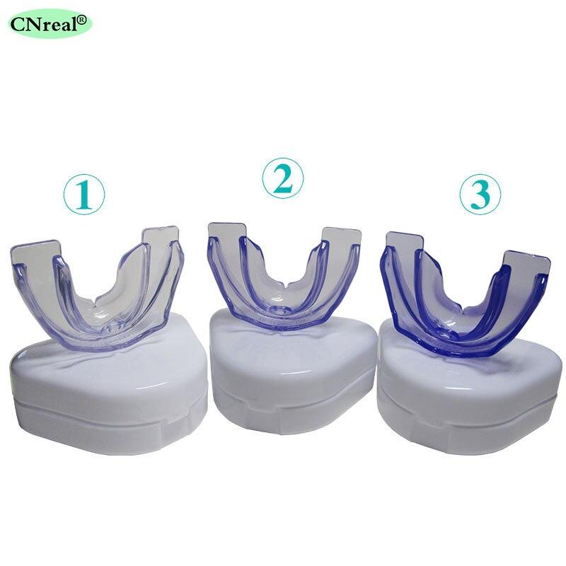 3 pieces/set Kids 9~18 Years Old Dental 3-stage (Soft, Medium & Hard) Orthodontic Retainer Teeth Trainer Braces Appliance