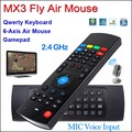 2.4G MX3 IR Mini Wireless Keyboard with Microphone Voice 3 in 1 Fly Air Mouse QWERTY Sensing Remote Learning for Android TV Box