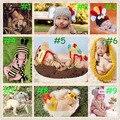 Nuevo 2015 animales encantadores de bebé ganchillo que hace punto Cap historieta la fotografía apoya nacidos sombreros Sets hechos a mano 0-12 mes 1 Unidades HK002
