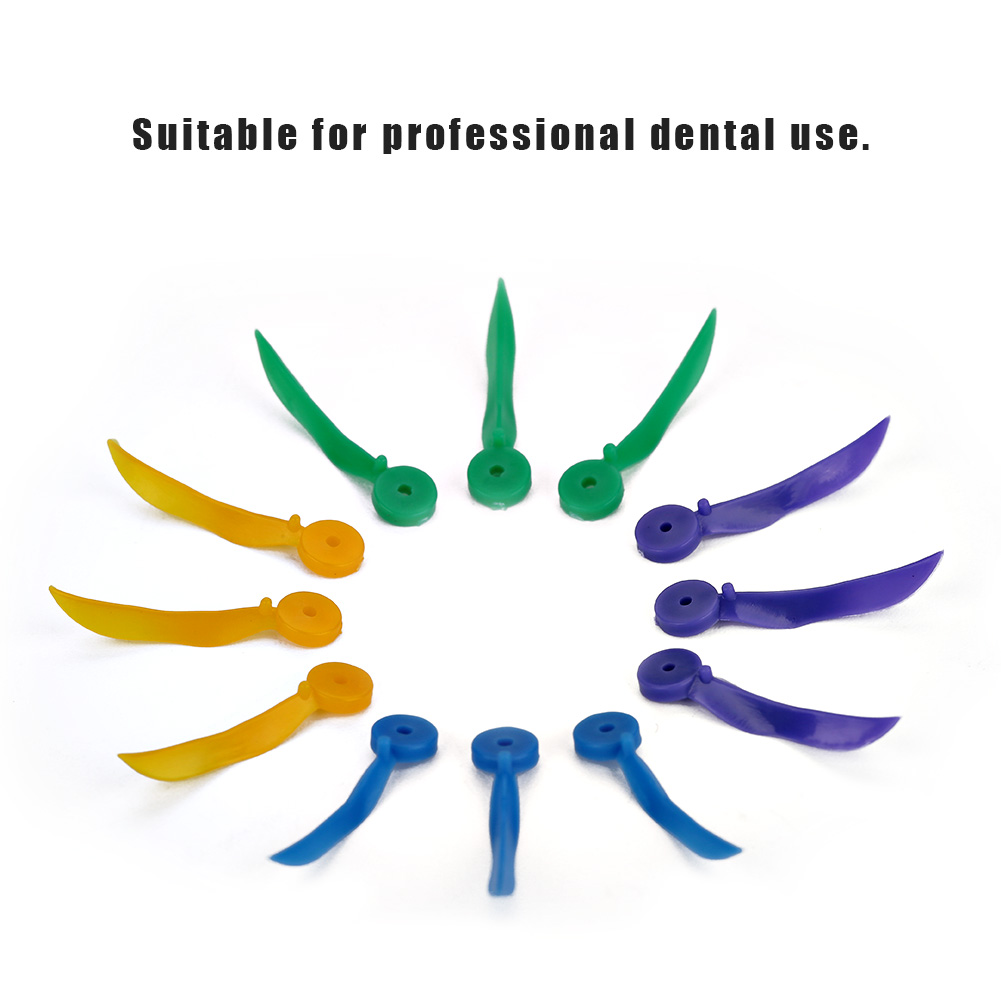 4 Colors 400PCs/Box  ABS Plasticsmooth Disposable Dental Wedge With Hole All 4 Sizes Diastema Tooth Wedge Medical Dentist Tools