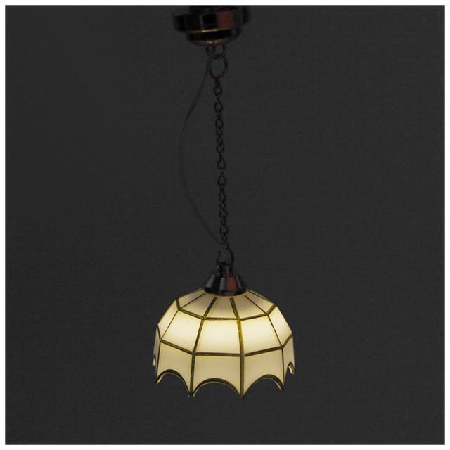 abwe beste koop 112 poppenhuis miniatuur meubels plafondlamp batterij aangedreven
